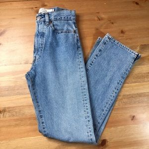 Diesel High rise mom jean button fly 27